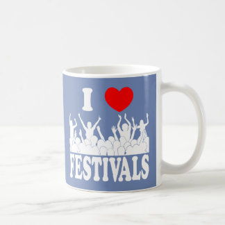 I Love festivals (wht) Coffee Mug