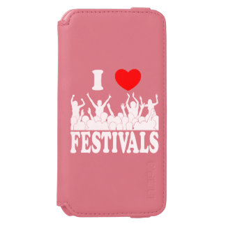 I Love festivals (wht) Incipio Watson™ iPhone 6 Wallet Case