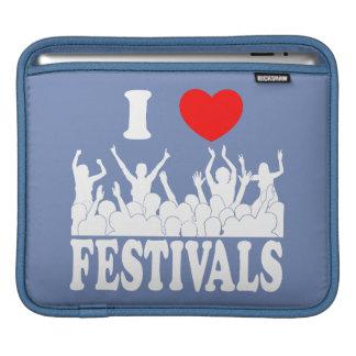 I Love festivals (wht) iPad Sleeve