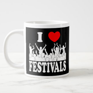 I Love festivals (wht) Large Coffee Mug