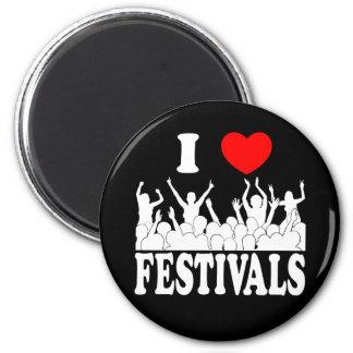 I Love festivals (wht) Magnet