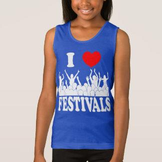 I Love festivals (wht) Singlet