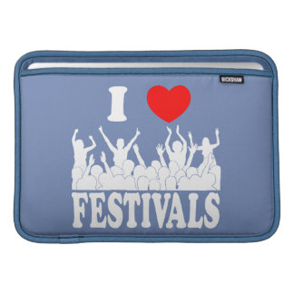 I Love festivals (wht) Sleeve For MacBook Air