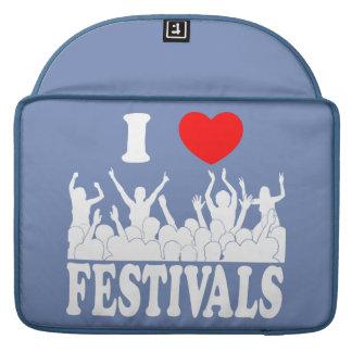I Love festivals (wht) Sleeve For MacBook Pro