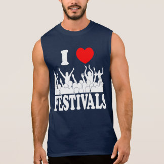 I Love festivals (wht) Sleeveless Shirt