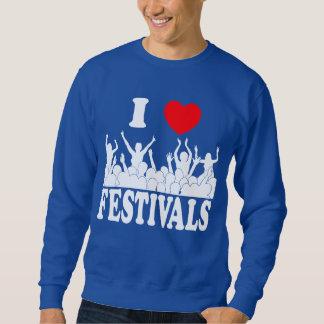 I Love festivals (wht) Sweatshirt