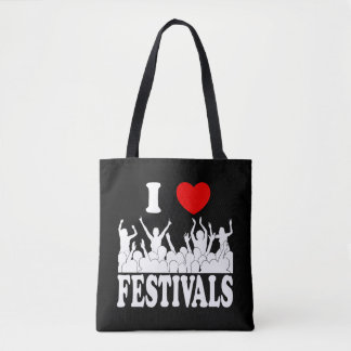 I Love festivals (wht) Tote Bag
