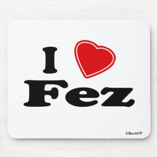 I Love Fez Mouse Pad