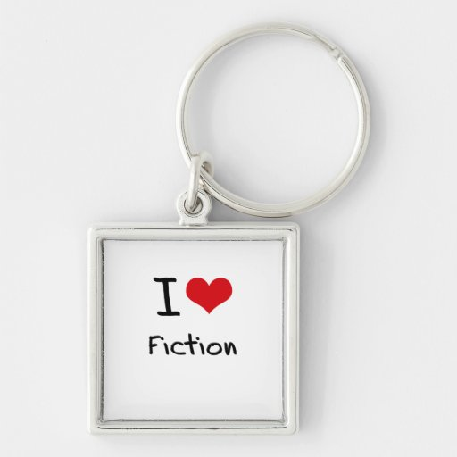 I Love Fiction Key Chain