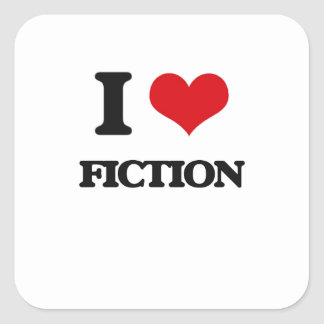 I love Fiction Square Sticker