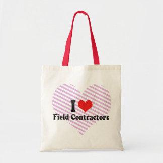I Love Field Contractors Tote Bags