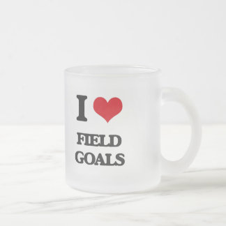 I love Field Goals Frosted Glass Mug