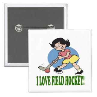 I Love Field Hockey 2 Button
