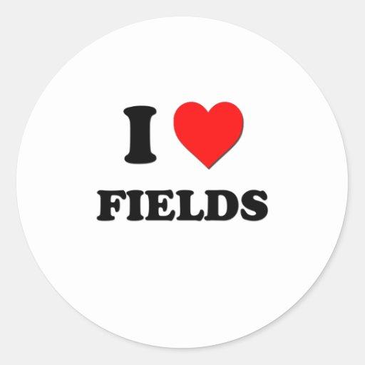 I Love Fields Stickers