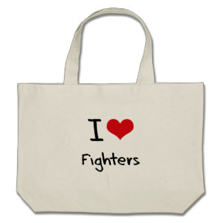 I Love Fighters Tote Bags