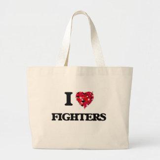 I Love Fighters Jumbo Tote Bag
