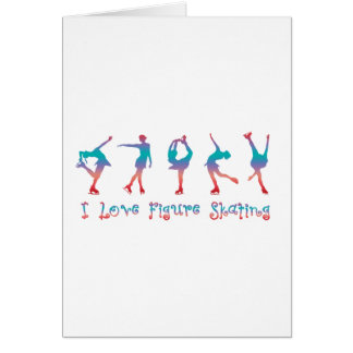 I love figure skating - cherry berry card