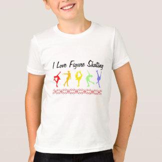 I love figure skating Girls Rainbow T-Shirt