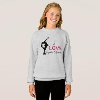 I LOVE Figure Skating, Girls Sweatshirt