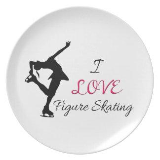 I Love Figure Skating Plates