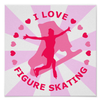 I Love Figure Skating Poster