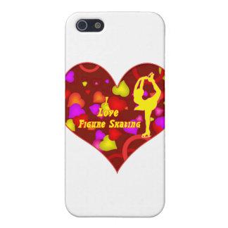I Love Figure Skating Retro Design Heart Case For The iPhone 5