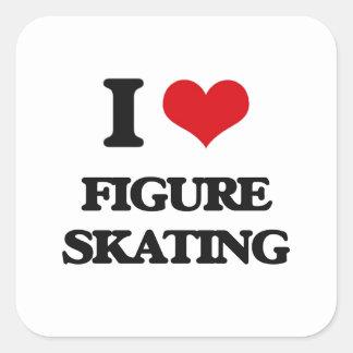I love Figure Skating Square Sticker