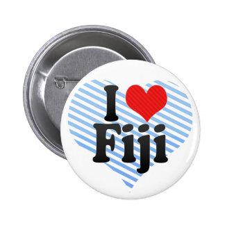 I Love Fiji 6 Cm Round Badge