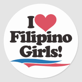 I Love Filipino Girls Sticker