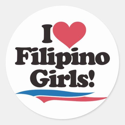 I Love Filipino Girls Sticker
