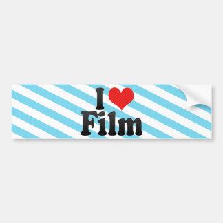 I Love Film Bumper Stickers