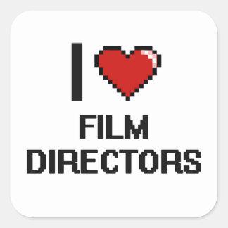 I love Film Directors Square Sticker