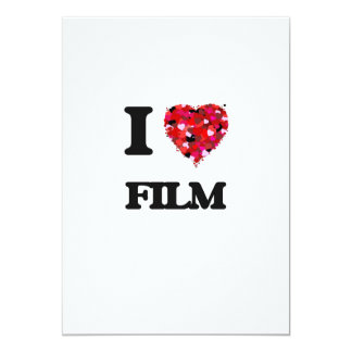 I Love Film 13 Cm X 18 Cm Invitation Card