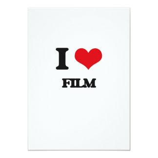 "I love Film 5"" X 7"" Invitation Card"