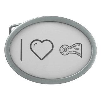 I Love Film Rolls Oval Belt Buckle