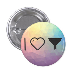 I Love Filter Covers 3 Cm Round Badge