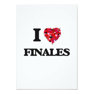 I Love Finales 13 Cm X 18 Cm Invitation Card