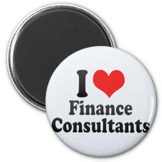 I Love Finance Consultants Refrigerator Magnets