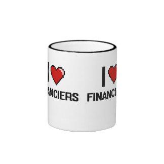 I love Financiers Ringer Mug