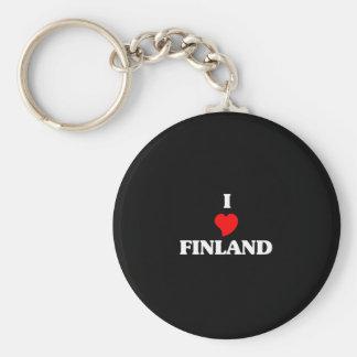 I Love Finland Basic Round Button Key Ring