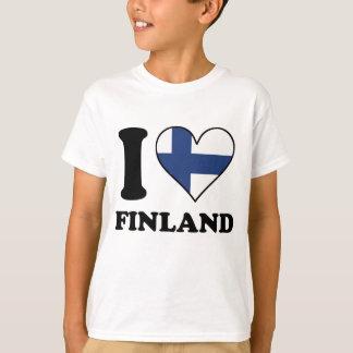 I Love Finland Finnish Flag Heart T-Shirt