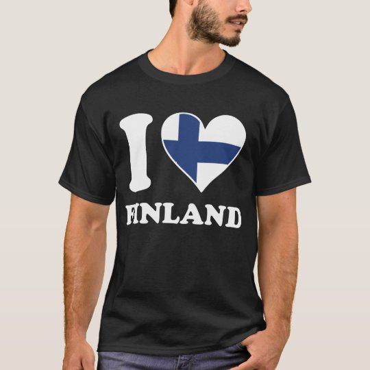 I Love Finland Finnish Flag Heart T-Shirt