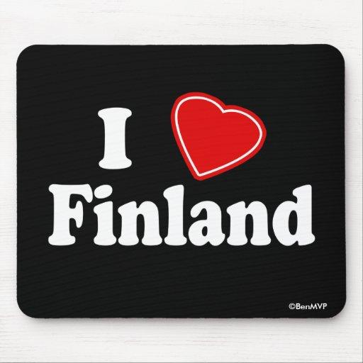 I Love Finland Mousepads