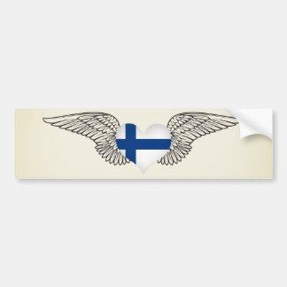 I Love Finland -wings Bumper Sticker