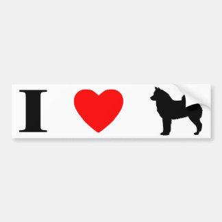 I Love Finnish Spitzes Bumper Sticker