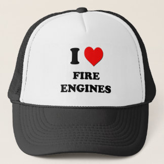 I Love Fire Engines Trucker Hat