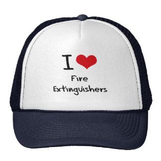 I Love Fire Extinguishers Trucker Hats