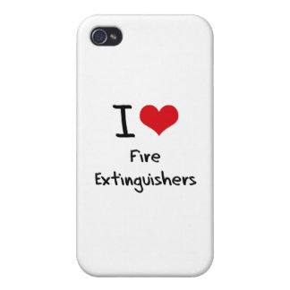 I Love Fire Extinguishers Case For iPhone 4