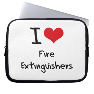 I Love Fire Extinguishers Computer Sleeve