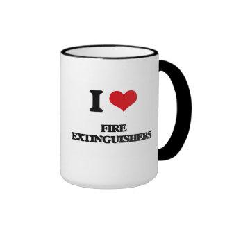 i LOVE fIRE eXTINGUISHERS Coffee Mugs
